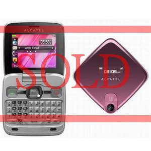 Pink Chrome Alcatel OT-808 QWERTY Fashion Phone - New