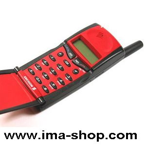 Ericsson GF768 Classic Flip Mobile Phone : Genuine, Original, Brand New & Boxed - RED