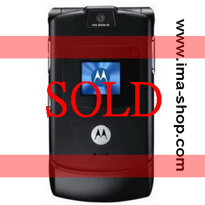 Motorola V3 RAZR V3 Quadband Business Phone - Brand New, Original & Boxed : Black