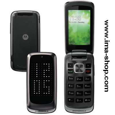 Motorola Gleam Plus / Gleam+, Dark Mercury Silver, LED Display Flip Phone - Brand New & Original