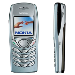 Nokia 6100 Classic Business Phone, genuine, brand new & original - Silver-Blue Color