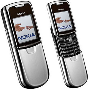 Silver Nokia 8800 Classic, a phone made of steel - Refurbished